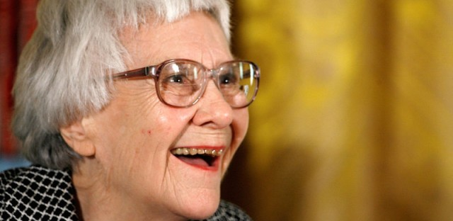 Pulitzer Prize winner and 'To Kill A Mockingbird' author Harper Lee smiles before receiving the 2007 Presidential Medal of Freedom in White House.