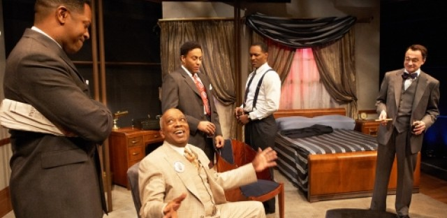 A production of Ed Schmidt's 'Mr. Rickey Calls a Meeting' staged at the Lookingglass Theatre.