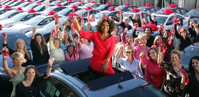 Oprah Car Giveaway