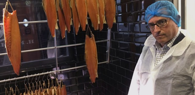 """""""I think we need to be that first domino to fall,"""" says Lance Forman, owner of H. Forman & Son, a salmon smoking company in East London."""