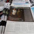 The final issue of The Cambodia Daily is sold at a newsstand, in Phnom Penh, Cambodia, Monday, Sept. 4, 2017.