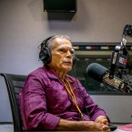 Oscar Lopez Rivera speaks on 'Worldview' in the WBEZ studios.
