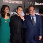 Snowden Stars Shailene Woodley, Joseph Gordon-Levitt and Director Oliver Stone