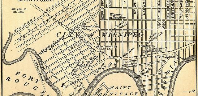 Sketch of the City of Winnipeg Manitoba 1882