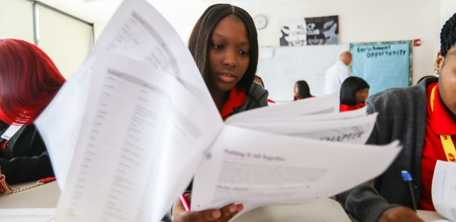 Students at Chicago's North Lawndale College Prep High School are taking a college-level medical terminology course through Malcolm X College this fall. There's been an explosion of college-level courses offered in Chicago Public Schools in recent years.