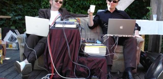 Electronic DJs Atom™ and Tobias Freund, aka Pink Elin, spin 'n chill