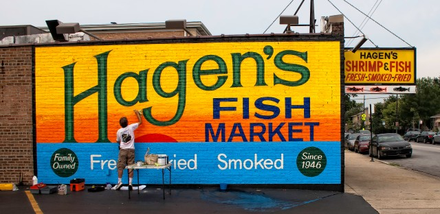Garlington cites Hagen's Fish Market at Montrose and Central as his favorite beat-cop-worthy spot in Chicago.