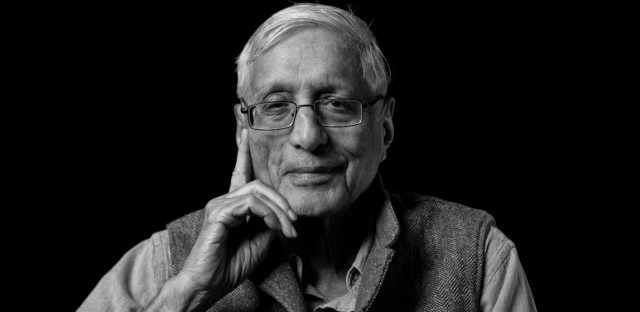 Mahatma Gandhi's grandson, historian and biographer Rajmohan Gandhi.