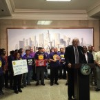 Airport Workers and SEIU President Tom Balanoff