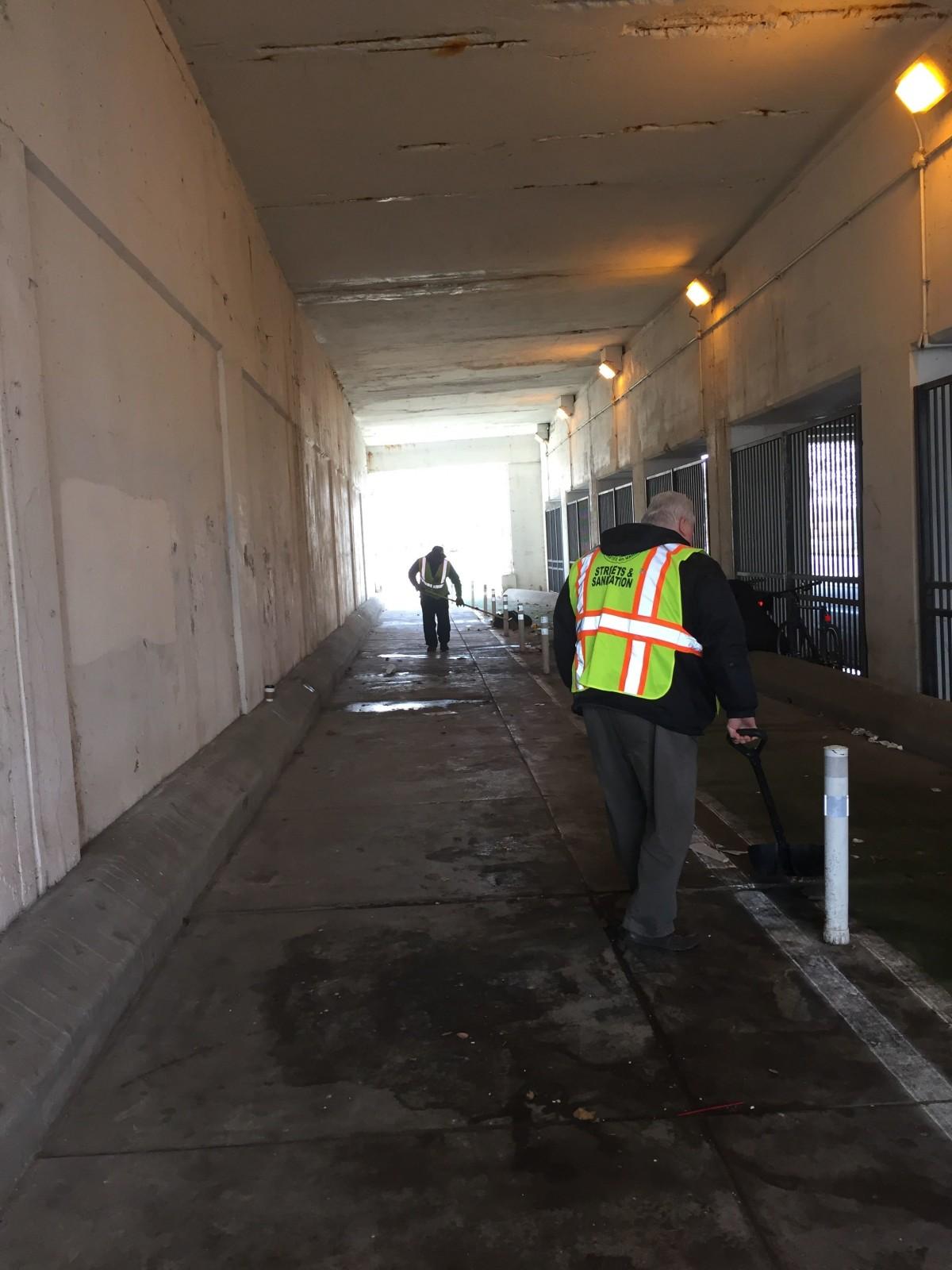 Wilson Avenue street cleaning