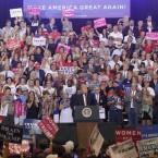 President Donald Trump speaks at a rally Aug. 22, 2017, in Phoenix, Ariz.