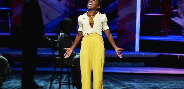 Cynthia Erivo, star of The Color Purple, performs onstage during the 70th Annual Tony Awards.