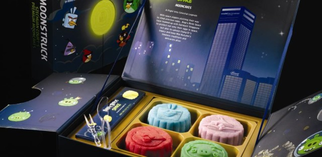 Angry Birds Space mooncakes at the Fairmont Singapore