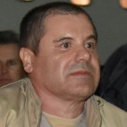 Guzmán is seen arriving in New York in January 2017 after his extradition from Mexico.