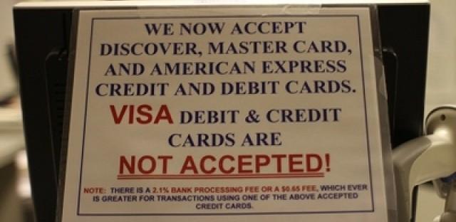 Why don't Illinois Secretary of State facilities take Visa?