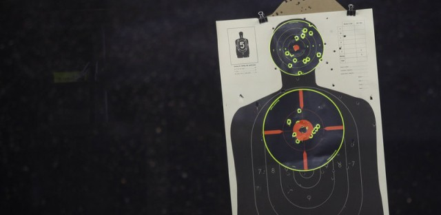 Shown a realistic human target — not just a silhouette like this one — shooters were more likely to pull the trigger if the target was black, according to an analysis of 42 studies.