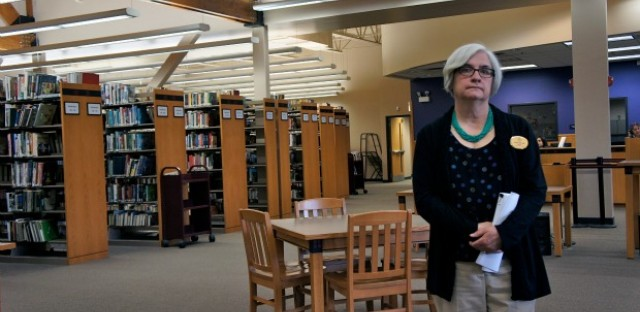 Jane Schoen is the director of the Cicero Public Library. Comparing her funding with libraries in wealthier suburbs like Arlington Heights she says, 'No, it's not fair but it just is.'