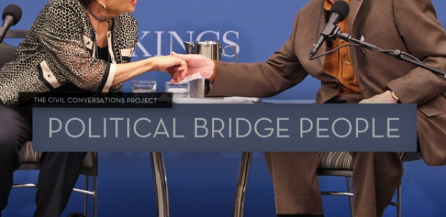 On Being : Sen. Pete Domenici and Alice Rivlin — Political Bridge People Image