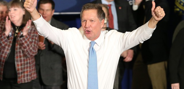 In a Republican race marked by anger and anti-establishment fervor, Kasich is running the optimistic campaign. Is that enough to win?