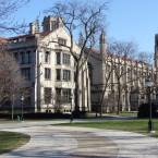 The main quadrangle at the University of Chicago.