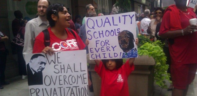 Hundreds march from CPS to City Hall in call for elected school board