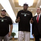 Former NBA basketball star Dennis Rodman