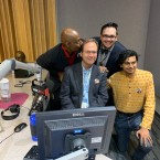 Jerome with his production team. From left to right: Steve Bynum, Jerome McDonnell, Julian Hayda and Ashish Valentine.