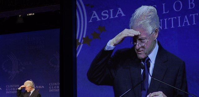 Former U.S. President Bill Clinton attends the Clinton Global Initiative Asia Meeting in Hong Kong in 2008. The former president kicked off his first charitable conference abroad in Hong Kong after he agreed to greater oversight of his foundation to pave the way for his wife Hillary Clinton's appointment by President-elect Barack Obama as Secretary of State.