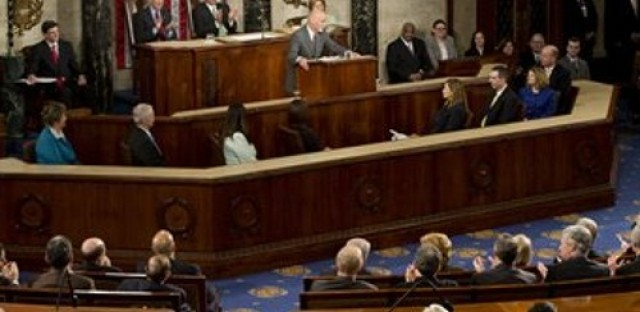 Afghan President Ashraf Ghani speaks to congress