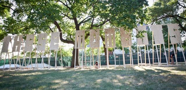 Pitchfork Day 1: Time-lapse art installation
