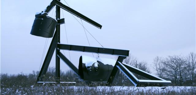 Sculpture on the Winter Prairie