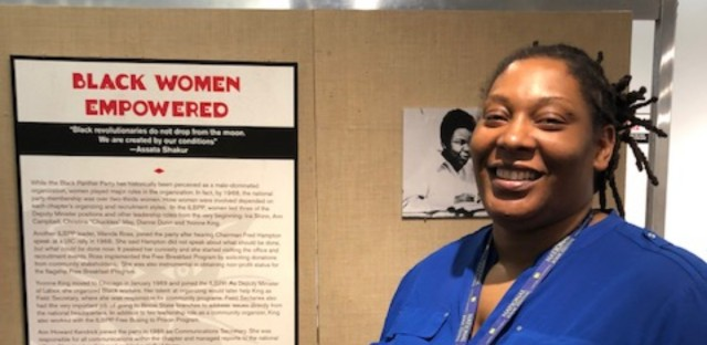 Tracy Drake is an archival specialist and the exhibit curator at Woodson Regional Library. Drake said the branch is special to her because she did research there from high school through graduate school.