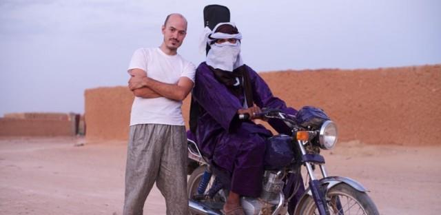 Christopher Kirkley and Mdou Moctar in Agadez, Niger