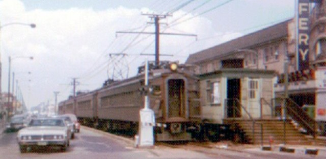 Older-style steel IC commuter train
