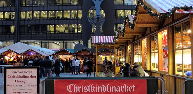 Christkindlmarket 2012 under the Picasso in Chicago