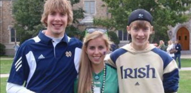 A photo of Declan - left - with his brother and sister.