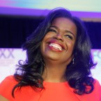 Challenger Kim Foxx smiles at the crowd as she celebrates her primary win over incumbent Democratic Cook County State's Attorney Anita Alvarez Tuesday, March 15, 2016, in Chicago. (AP Photo/Charles Rex Arbogast)