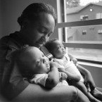 Mother with twins, '99