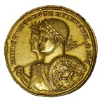 gold coin with constantine