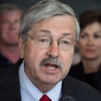 Governor Terry Branstad signs a bill in Cumming, Iowa on May 9th. He's awaiting Senate confirmation to be the next ambassador to China.