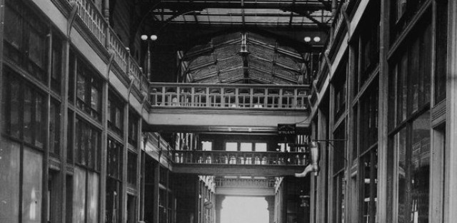 The Pullman Arcade Building, as photographed in the late 1880s.