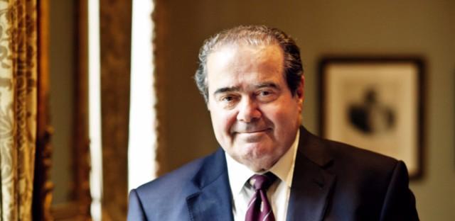 Justice Antonin Scalia at the Supreme Court in 2012. (K Amaria/NPR)