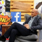 In this Monday, May 20, 2019 photo, Facebook's Managing Director for the Middle East and North Africa, Ramez Shehadi speaks to The Associated Press at the Facebook office in Dubai, United Arab Emirates. The Muslim holy month of Ramadan, with its long days of fasting and prayer meant to draw worshippers closer to God and away from worldly distractions, is being reshaped by technology. People in the Middle East are spending close to 58 million more hours on Facebook and watching more YouTube videos than at any other time of the year, making Ramadan the biggest moment of the year for advertisers.