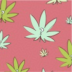 An illustratino of marijuana leaves with question marks on them