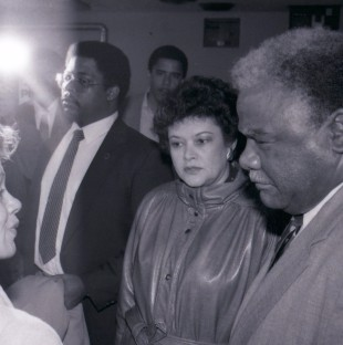 Harold Washington and Barack Obama