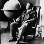 President Theodore Roosevelt pictured in his office at the White House on Dec. 8, 1908 in Washington.