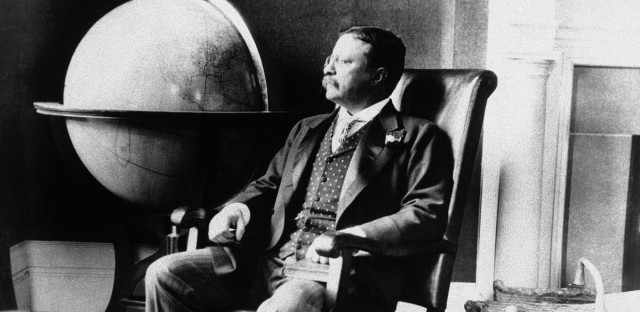 President Theodore Roosevelt pictured in his office at the White House on Dec. 8, 1908 in Washington. (AP Photo)