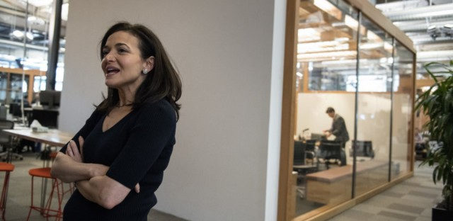 "Facebook's chief operating officer, Sheryl Sandberg interviewed at the company's offices in Menlo Park, Calif., on Thursday€"" told NPR: ""We did not think enough about the abuse cases."" Deanne Fitzmaurice for NPR"
