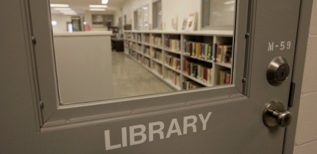 The library in the programs building is pictured during a media tour of the Thomson Correctional Center on Dec. 22, 2009 in Thomson, Ill.