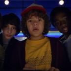Noah Schnapp, Finn Wolfhard, Gaten Matarazzo, and Caleb Mclaughlin in Stranger Things 2. Netflix